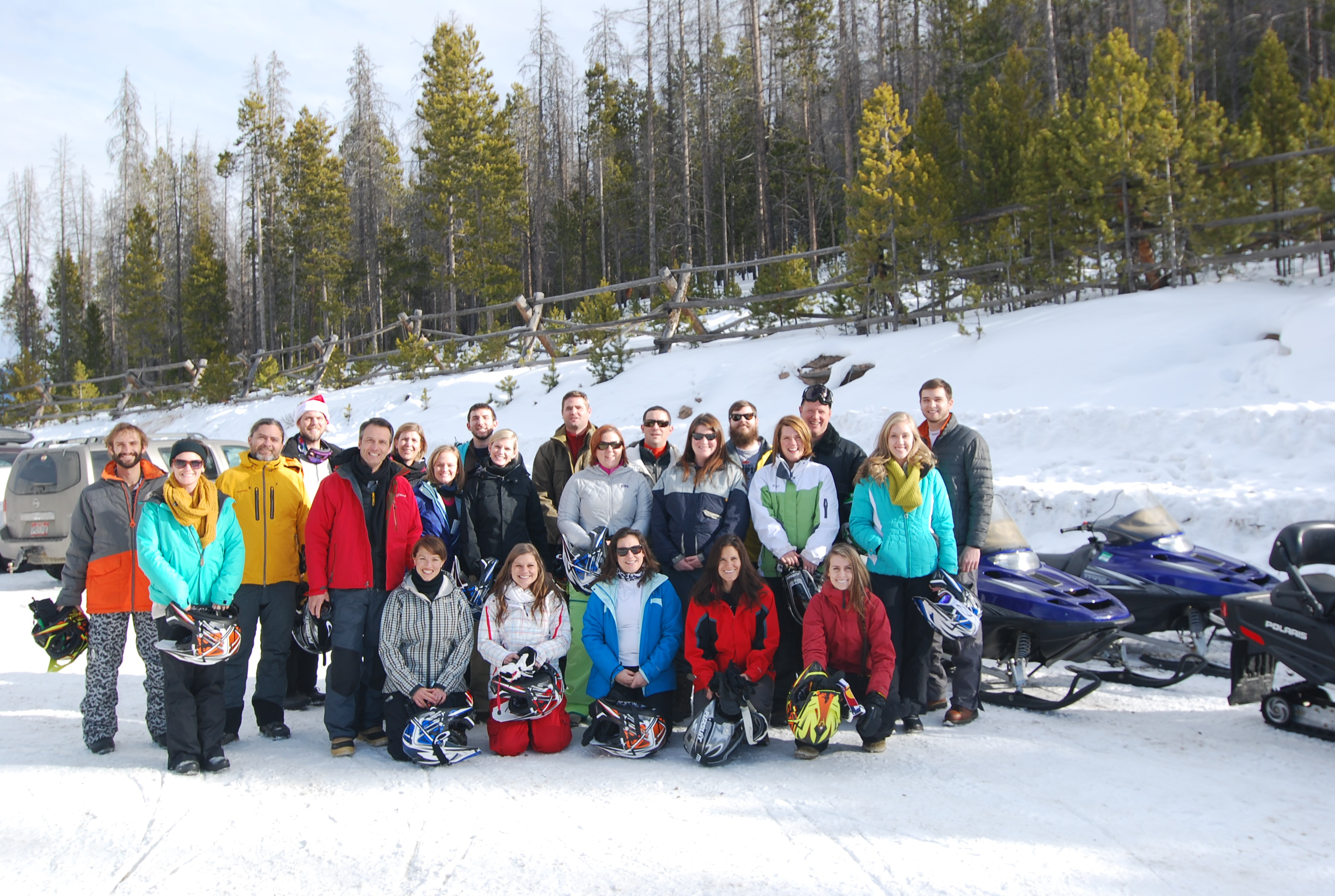 Snowmobiling for Christmas